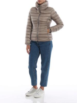 Colmar Originals: giacche imbottite online - Piumino corto beige Place con collo a imbuto