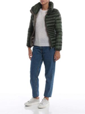 Colmar Originals: giacche imbottite online - Piumino corto Place verde con collo a imbuto