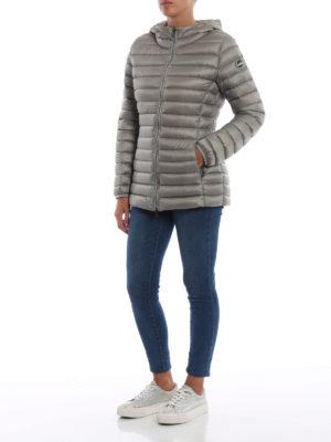 Colmar Originals: giacche imbottite online - Piumino con cappuccio in nylon Place grigio