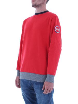 Colmar Originals: Felpe e maglie online - Felpa rossa con bordi a costine