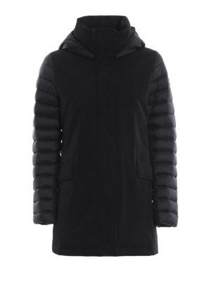 Colmar Originals: cappotti imbottiti - Piumino nero Biker in tessuto tecnico e nylon