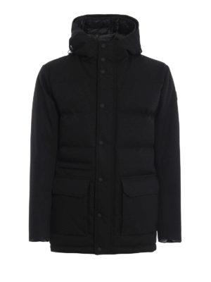 Colmar Originals: giacche imbottite - Piumino in twill tecnico nero con cappuccio