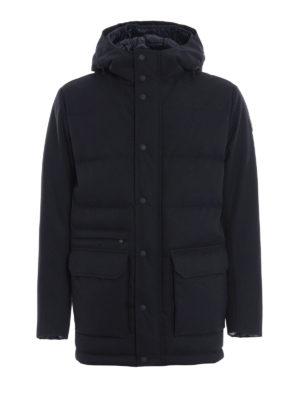 Colmar Originals: giacche imbottite - Piumino in twill tecnico blu con cappuccio