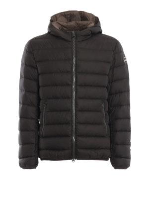 Colmar Originals: giacche imbottite - Piumino idrorepellente marrone con cappuccio