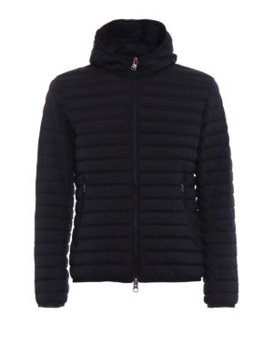 Colmar Originals: padded jackets - Hooded black stretch puffer jacket
