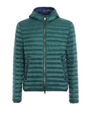 Colmar Originals: padded jackets - Hooded green and blue puffer jacket