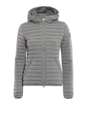 Colmar Originals: padded jackets - Hooded grey stretch puffer jacket