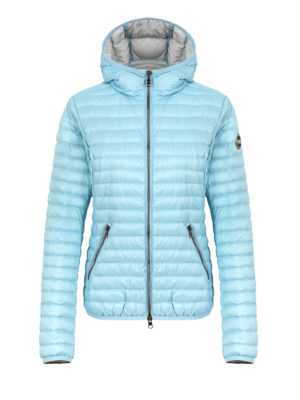 Colmar Originals: padded jackets - Hooded light blue puffer jacket