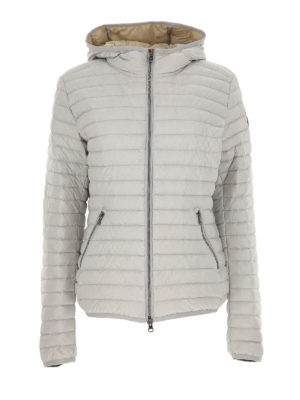 Colmar Originals: padded jackets - Hooded pearl grey puffer jacket