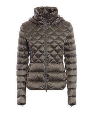 Colmar Originals: giacche imbottite - Piumino beige lucido con cappuccio rimovibile