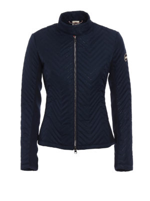 Colmar Originals: padded jackets - Navy blue chevron puffer jacket
