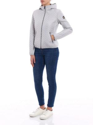 Colmar Originals: padded jackets online - Chevron hooded puffer jacket