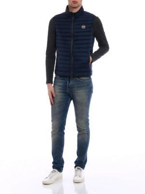 Colmar Originals: padded jackets online - Down padded sleeveless blue jacket