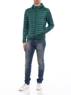 Colmar Originals: padded jackets online - Hooded green and blue puffer jacket