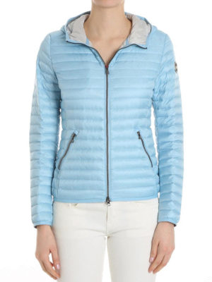 Colmar Originals: padded jackets online - Hooded light blue puffer jacket