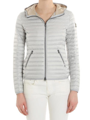 Colmar Originals: padded jackets online - Hooded pearl grey puffer jacket
