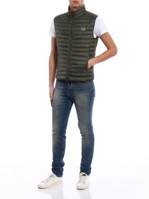Colmar Originals: padded jackets online - Sleeveless down padded green jacket