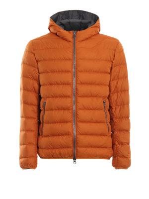 Colmar Originals: giacche imbottite - Piumino idrorepellente arancio con cappuccio