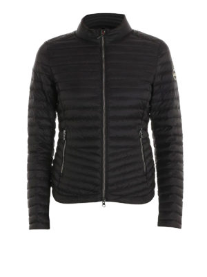 Colmar Originals: padded jackets - Padded biker black jacket