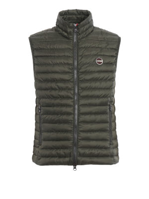 Colmar Originals: padded jackets - Sleeveless down padded green jacket