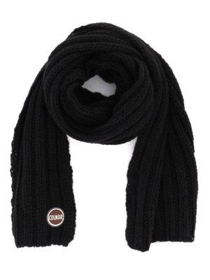 Colmar: scarves - Logo patch wool blend scarf