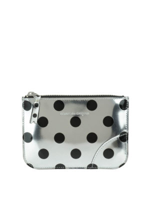 Comme Des Garcons: Cases & Covers - Polka dot patent small pouch