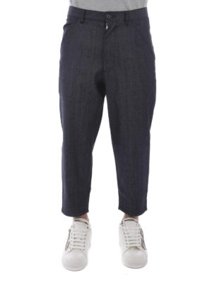 Comme Des Garcons: casual trousers online - Denim crop trousers