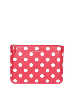 COMME DES GARCONS: clutches - Polka dot red clutch