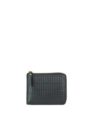 COMME DES GARCONS: portafogli - Portafoglio Brick Line in pelle nera