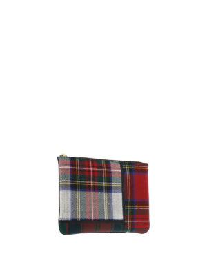 Comme Des Garcons: wallets & purses online - Tartan patchwork pouch