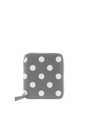 Comme Des Garcons: wallets & purses - Polka Dot printed zip wallet
