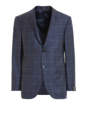 Corneliani: blazers - Check wool single-breasted blazer