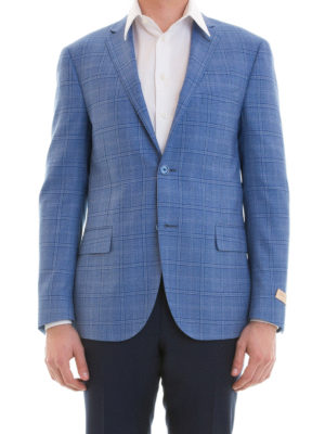 Corneliani: blazers online - Check wool unstructured blazer