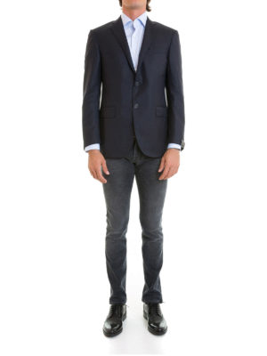 Corneliani: blazers online - Wool classic single-breasted blazer