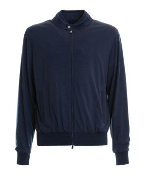 CORNELIANI: giacche bomber - Giubbotto sportivo in lana ritorta