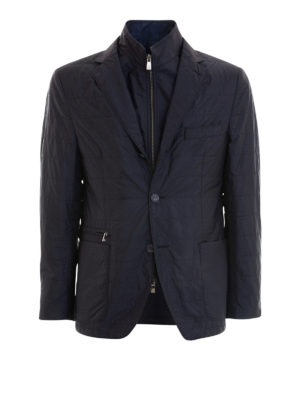 Corneliani: casual jackets - Removable bib quilted jacket