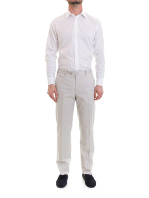 Corneliani: casual trousers online - Zipped pockets cotton chinos