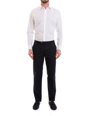 Corneliani: casual trousers online - Zipped pockets cotton trousers