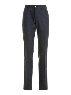 Corneliani: casual trousers - Wool jeans-style trousers