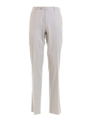 Corneliani: casual trousers - Zipped pockets cotton chinos