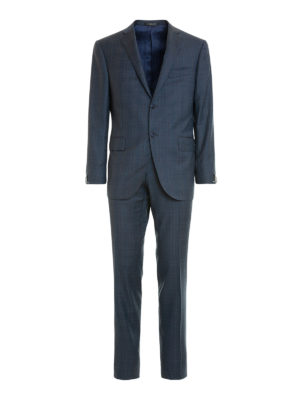 Corneliani: formal suits - Check wool two-piece suit