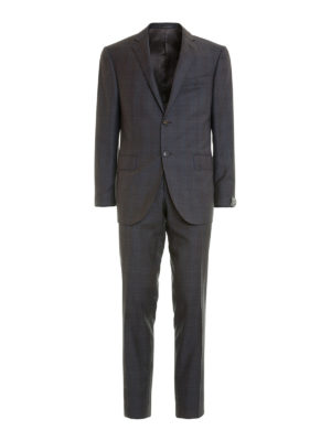 Corneliani: formal suits - Two-piece check wool suit