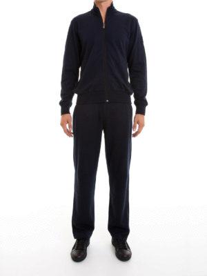 Corneliani: jumpsuits online - Cotton blend zipped jumpsuit