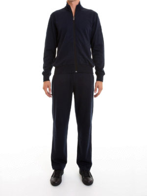Corneliani: jumpsuits online - Cotton blend zipped jumpsuit