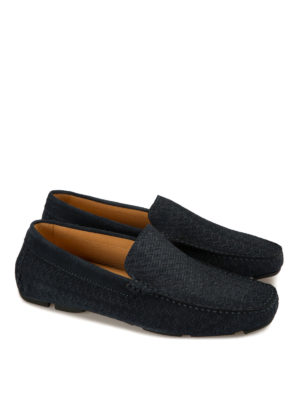 Corneliani: Loafers & Slippers online - Printed suede driving shoes