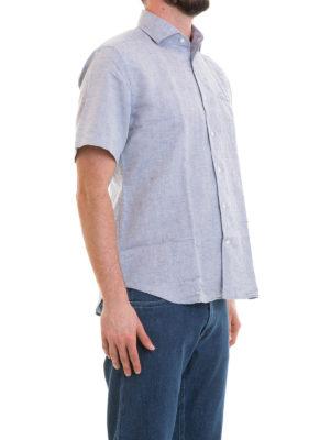 CORNELIANI: camicie online - Camicia in misto lino cotone