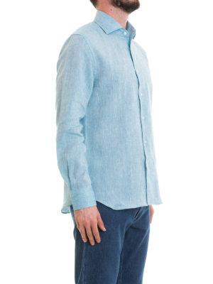 CORNELIANI: camicie online - Camicia azzurra in lino