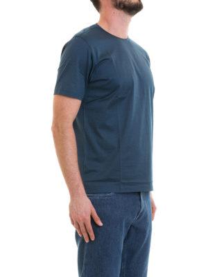 CORNELIANI: t-shirt online - T-shirt blu avio in cotone
