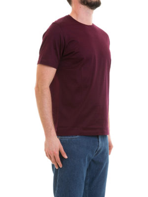 CORNELIANI: t-shirt online - T-shirt bordeaux in cotone