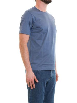 CORNELIANI: t-shirt online - T-shirt blu chiaro in cotone
